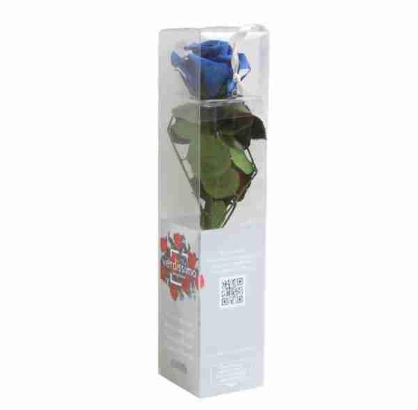 Rosa Preservada Azul Oscuro 27cm