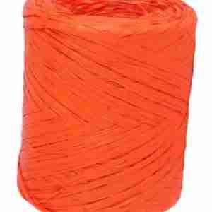 Bobina de rafia naranja