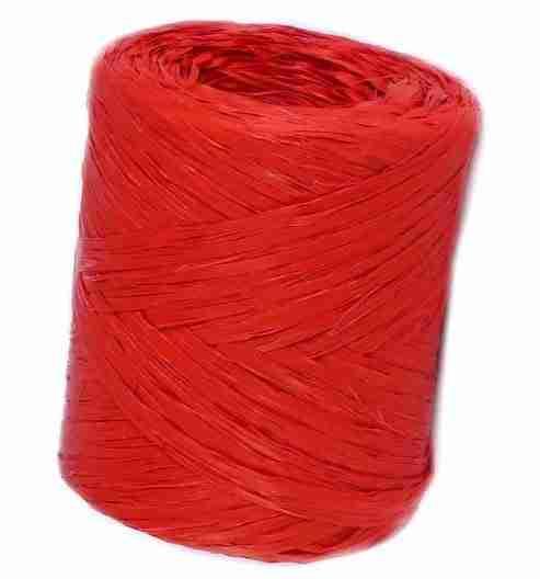 Bobina de rafia roja