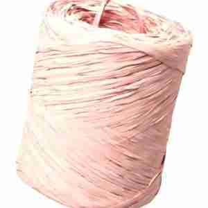 Bobina de rafia rosa claro
