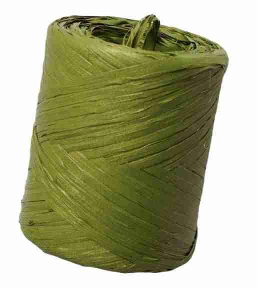 Bobina de rafia verde